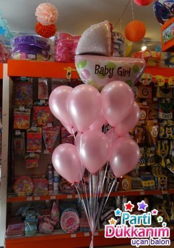ucan-balon-baby-girl-pembe
